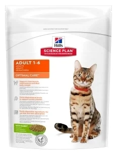Корм для кошек Hill's 0.4 кг Science Plan Feline Adult Optimal Care with Rabbit