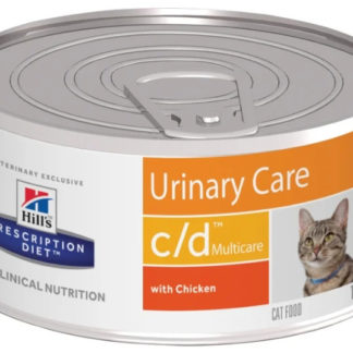 Корм для кошек Hill's Prescription Diet C/D Multicare Feline Minced with Chicken canned 1 шт. 0.156 кг