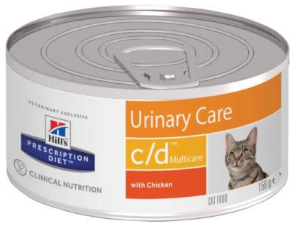 Корм для кошек Hill's Prescription Diet C/D Multicare Feline Minced with Chicken canned 1 шт. 0.156 кг