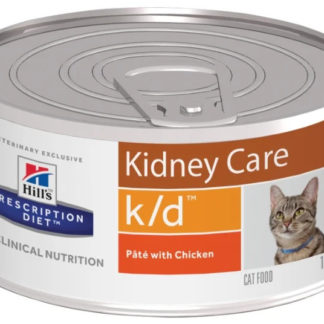 Корм для кошек Hill's Prescription Diet K/D Feline Minced with Chicken canned 1 шт. 0.156 кг
