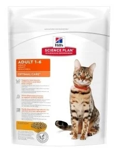 Корм для кошек Hill's Science Plan Feline Adult Optimal Care Chicken 0.4 кг