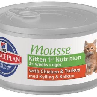 Корм для кошек Hill's 0.085 кг 1 шт. Science Plan Kitten 1st Nutrition Mousse с курицей и индейкой