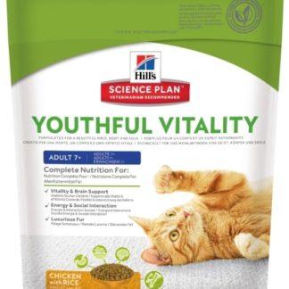 Корм для кошек Hill's Science Plan Feline Adult 7+ Youthful Vitality Chicken & Rice 0.25 кг