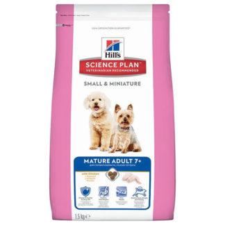 Корм для пожилых собак Hill's Science Plan курица 1.5 кг (для мелких пород)